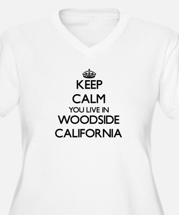Keep calm you live in Woodside C Plus Size T-Shirt
