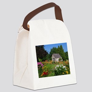 Country Garden Cottage Canvas Lunch Bag