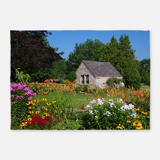 Country Garden Cottage 5'x7'area Rug