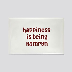 happiness is being Kamryn Rectangle Magnet