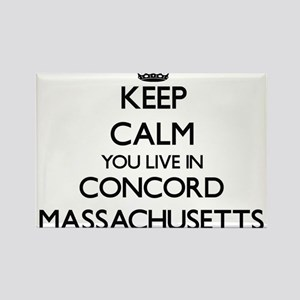 Keep calm you live in Concord Massachusett Magnets