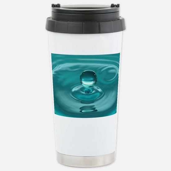 Turquoise Water Drop Stainless Steel Travel Mug