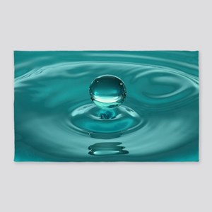 Turquoise Water Drop Area Rug