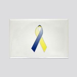 Down Syndrome Awareness Ribbon Rectangle Magnet