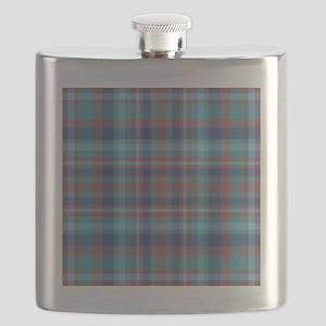 Marsala Plaid Flask