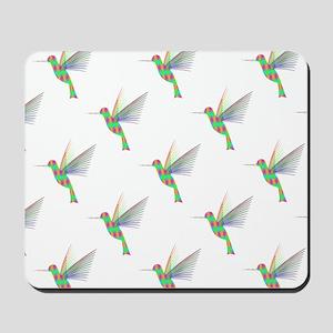 Rainbow Hummingbird Pattern Mousepad