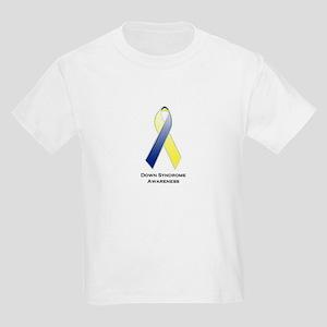 Down Syndrome Awareness Ribbon 2 Kids Light T-Shir