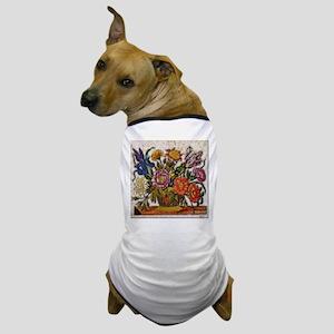 Flower Basket Dog T-Shirt