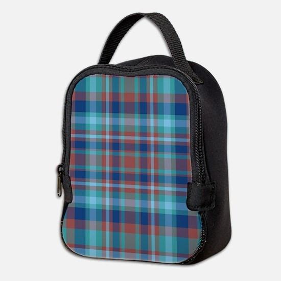 Marsala Plaid Neoprene Lunch Bag