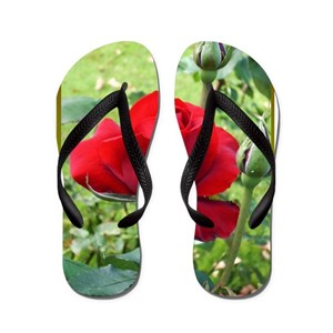 a7bb5b2549c97 Flower Flowers Nature Art Photography Love Red Swi Flip Flops - CafePress