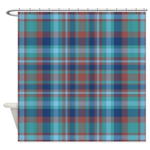 Plaid Shower Curtains
