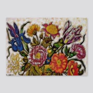 Flower Basket 5'x7'Area Rug