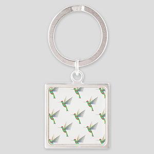 Rainbow Hummingbird Pattern Keychains