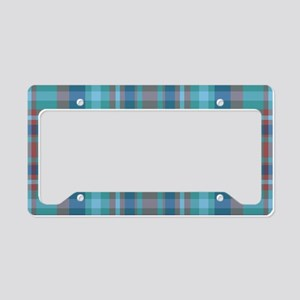 Marsala Plaid License Plate Holder