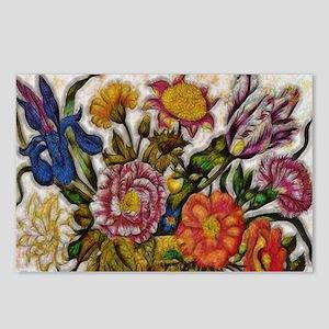 Flower Basket Postcards (Package of 8)
