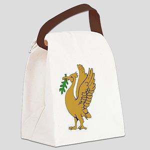 Gold Liverbird Canvas Lunch Bag