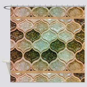Mosaic In Green Shower Curtain