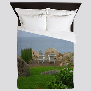 Two Seats In Paradise Queen Duvet