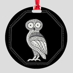 Athena's Owl Round Ornament