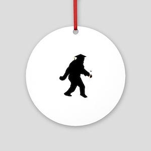 Graduation Sasquatch Ornament (Round)