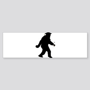 Graduation Sasquatch Bumper Sticker