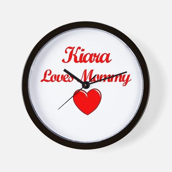 Kiara Loves Mommy Wall Clock