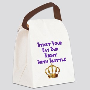 Alittle Crown Canvas Lunch Bag