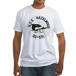 USS HAZELWOOD Fitted T-Shirt