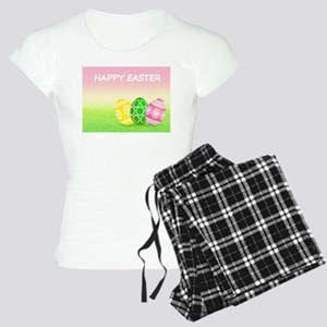 Happy Easter Pretty Eggs on Women's Light Pajamas