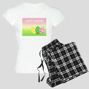 Happy Easter Pretty Eggs on Women's Light Pajamas