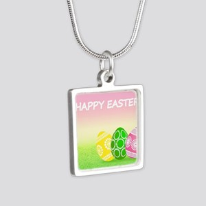 Happy Easter Pretty Eggs on Grass Necklaces