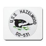 USS HAZELWOOD Mousepad