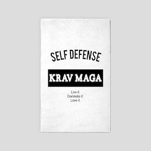 Self Defense Krav Maga - Live It Area Rug