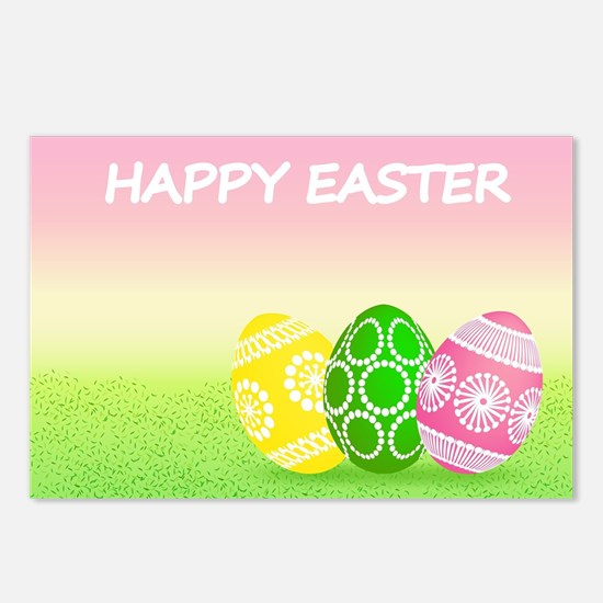 Happy Easter Pretty Eggs Postcards (Package of 8)