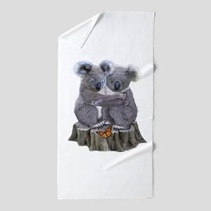 BABY KOALA HUGGIES Beach Towel