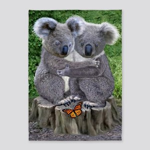 BABY KOALA HUGGIES 5'x7'Area Rug