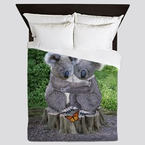 BABY KOALA HUGGIES Queen Duvet