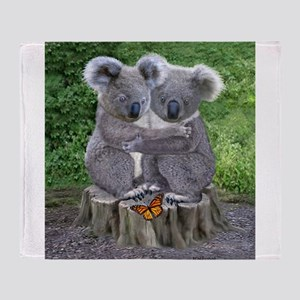BABY KOALA HUGGIES Throw Blanket