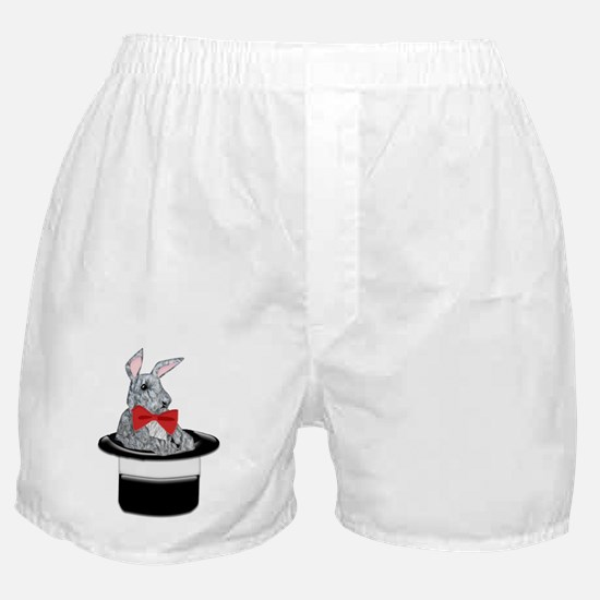 MAgic Bunny in a Top Hat Boxer Shorts