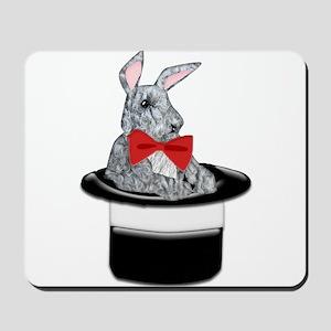 MAgic Bunny in a Top Hat Mousepad