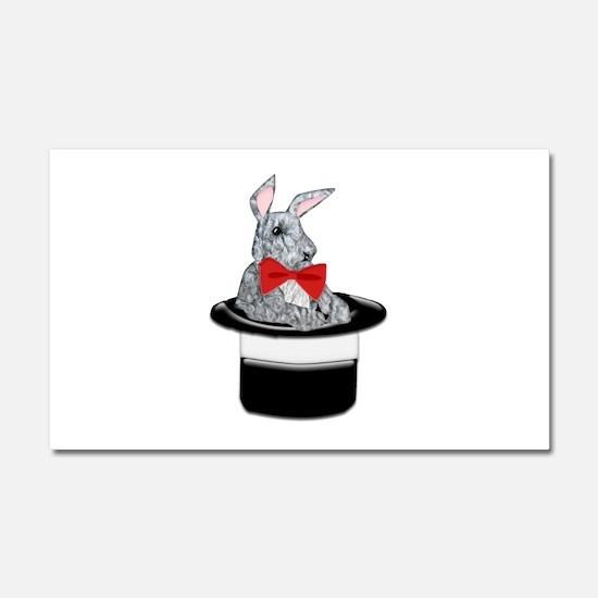 MAgic Bunny in a Top Hat Car Magnet 20 x 12
