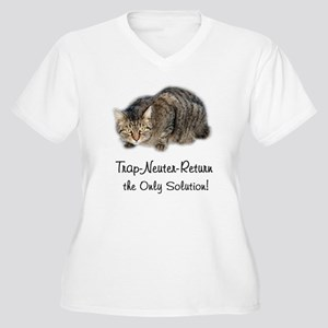 Trap-Neuter-Return Women's Plus Size V-Neck T-Shir