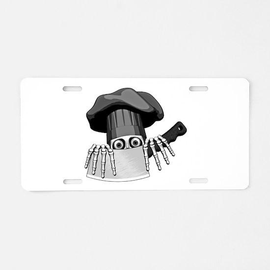 Chef Humor Aluminum License Plate
