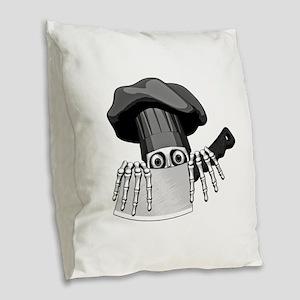 Chef Humor Burlap Throw Pillow