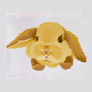 Fuzzy Lop Eared Bunny Throw Blanket