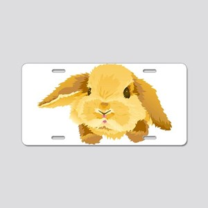 Fuzzy Lop Eared Bunny Aluminum License Plate
