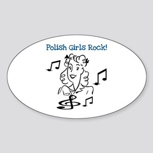 Polish Girls Rock Oval Sticker