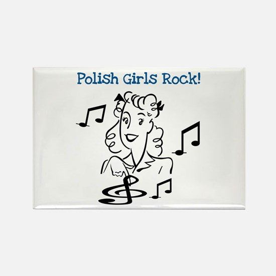 Polish Girls Rock Rectangle Magnet