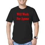 Will Work For Ammo Men's Fitted T-Shirt (dark)