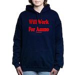 Will Work For Ammo Women's Hooded Sweatshirt